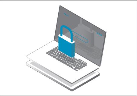illustration coffre-fort électronique